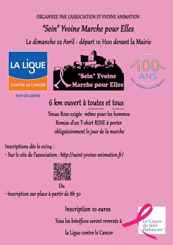 flyer marche rose